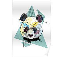 Geometric Watercolor Panda Bear Poster