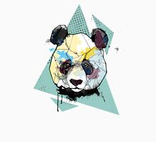 Geometric Watercolor Panda Bear Men's Baseball ¾ T-Shirt