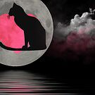 Cat In the Moon by Maria Dryfhout