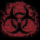Binary Biohazard Symbol (Red) by GrimDork