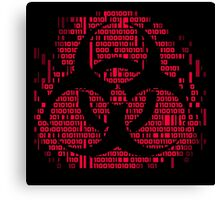 Binary Biohazard Symbol (Red) Canvas Print