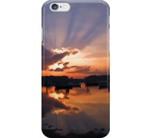 Boats in an amazing sunset iPhone Case/Skin