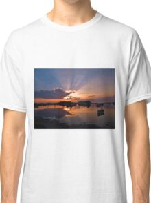 Boats in an amazing sunset Classic T-Shirt