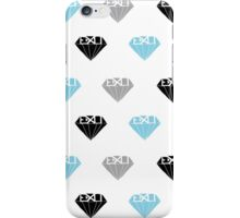 blue gray & black exo  iPhone Case/Skin