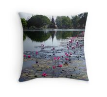 Lotus' and 'Holy Pond' Throw Pillow