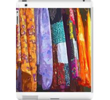 Colorful dresses in a street market iPad Case/Skin