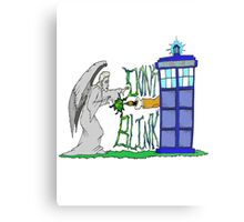 Don't Blink Tardis Metal Print