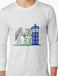 Don't Blink Tardis Long Sleeve T-Shirt