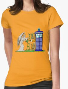 Don't Blink Tardis Womens Fitted T-Shirt