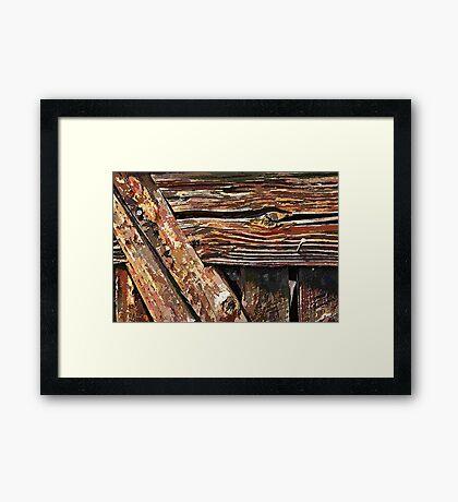 Aged old wood background Framed Print