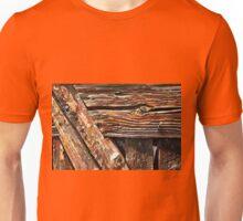 Aged old wood background Unisex T-Shirt
