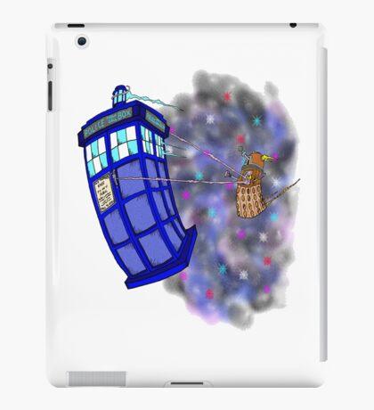 Dalek hitching a ride on the Tardis iPad Case/Skin