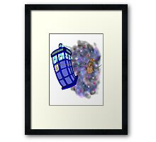Dalek hitching a ride on the Tardis Framed Print