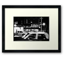 Night in New York Framed Print