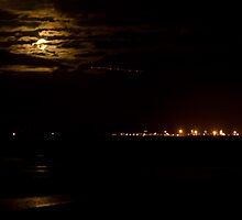 Port of Brisbane by Moonlight by Judy Harland