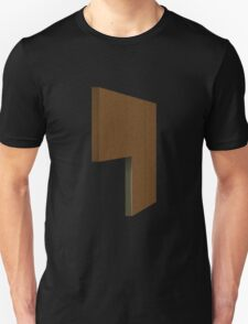 Glitch Original Homes wallpaper divider boghouse brown T-Shirt
