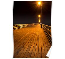 Shorncliffe Pier at Night Poster