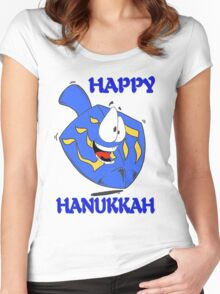 Happy Hanukkah Women's Fitted Scoop T-Shirt