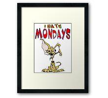 I Hate Mondays Chihuahua Framed Print