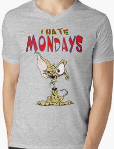 I Hate Mondays Chihuahua Mens V-Neck T-Shirt