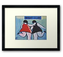 Big girls night out (from my original acrylic painting ) Framed Print