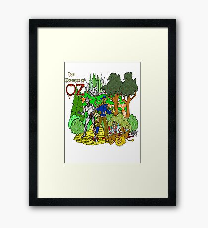 Zombies of OZ Framed Print