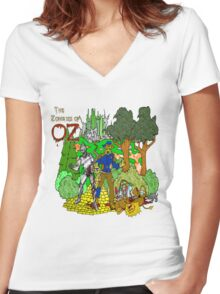 Zombies of OZ Women's Fitted V-Neck T-Shirt