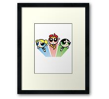 Powerpuff girls Framed Print