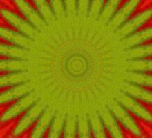 Patchwork Red Starburst Sticker