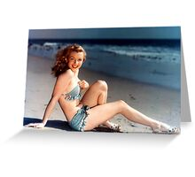 Young Marilyn Monroe on the Beach Greeting Card