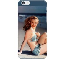Young Marilyn Monroe on the Beach iPhone Case/Skin
