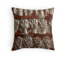 the fifteen handprints Throw Pillow