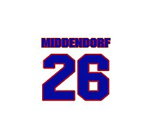 National Hockey player Max Middendorf jersey 26 Photographic Print