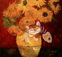 Catmasutra - Sunflowers by Catmasutra