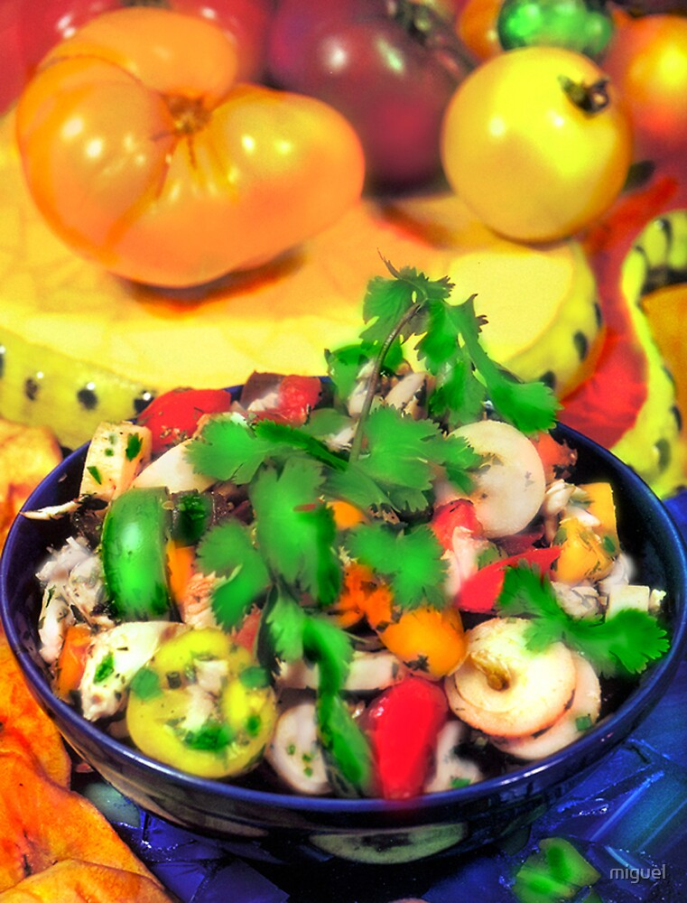 LUMP CRAB MEAT AND FRESH HEARTS OF PALM SALAD WITH CHILES by miguel by miguel