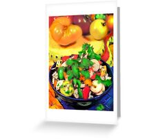 LUMP CRAB MEAT AND FRESH HEARTS OF PALM SALAD WITH CHILES by miguel Greeting Card