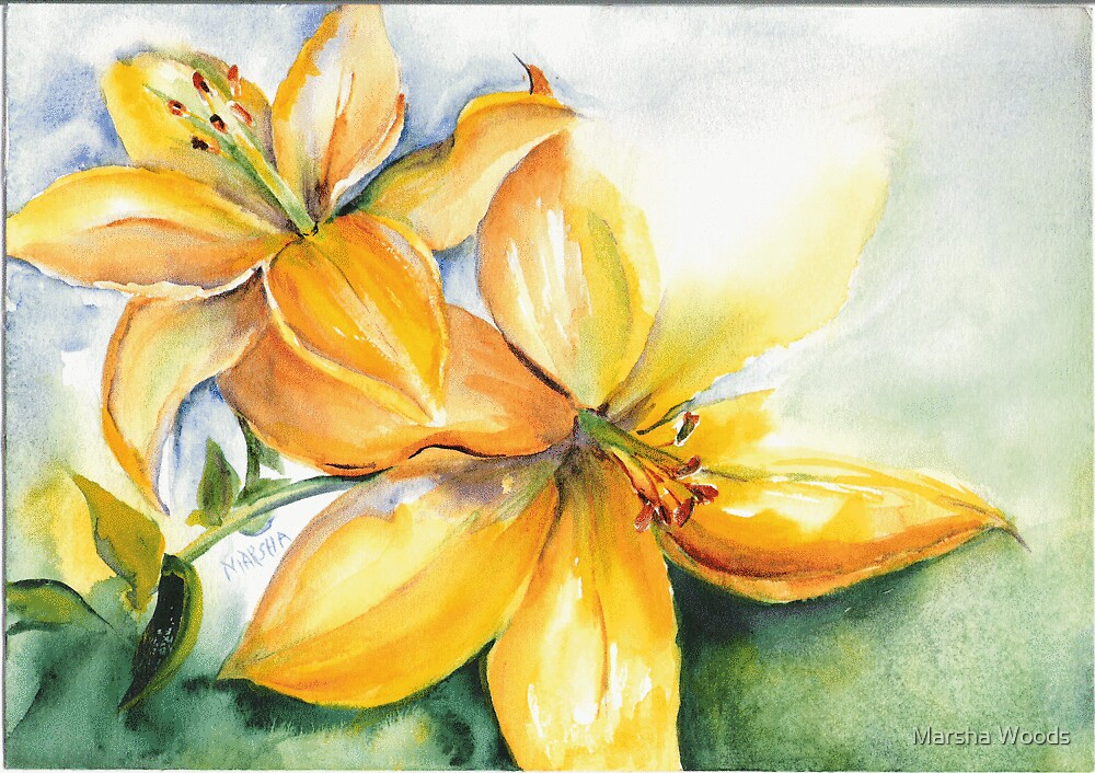 Lilies by Marsha Woods