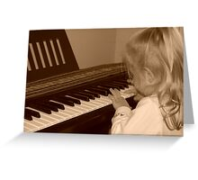 Young Musician Greeting Card