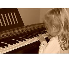 Young Musician Photographic Print