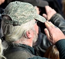 U.S. Military Vets - Veterans Day at Arlington National Cemetary by Matsumoto