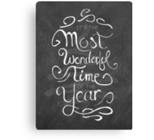 The Most Wonderful Time Canvas Print