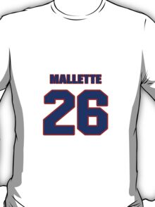 National Hockey player Troy Mallette jersey 26 T-Shirt