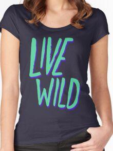 Live Wild: Alaska Women's Fitted Scoop T-Shirt
