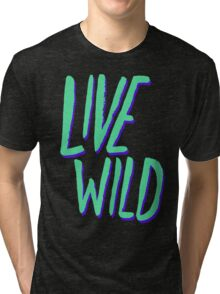 Live Wild: Alaska Tri-blend T-Shirt