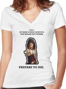 My Name Is Inigo Montoya. Women's Fitted V-Neck T-Shirt