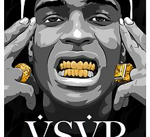 Gold Grills - ASAP Rocky Illustration by JWatersDesign