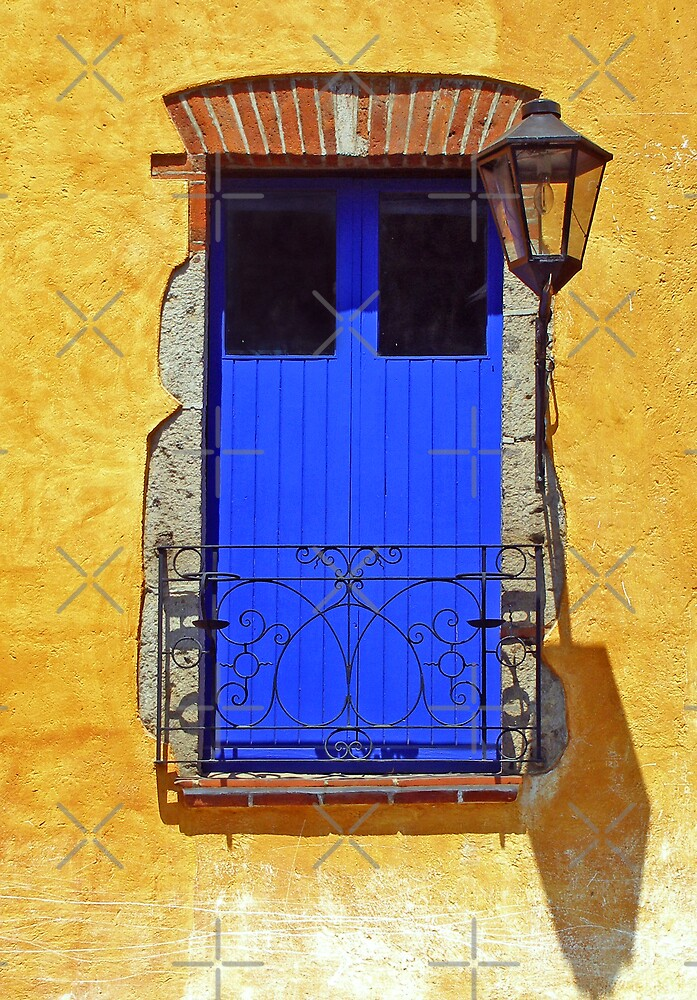 The Blue Balcony Door by MaluC