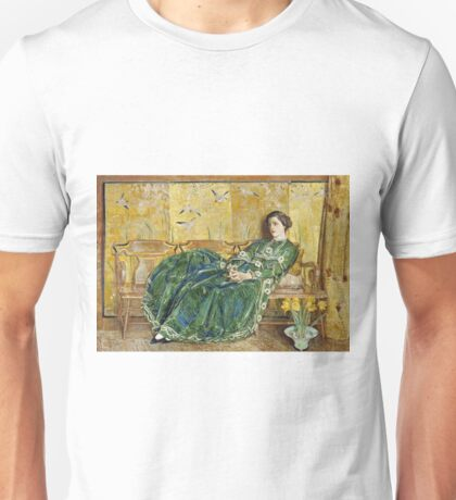Childe Hassam - April (The Green Gown) (1920) Unisex T-Shirt