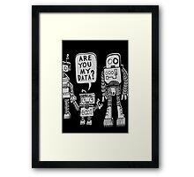 My Data? Robot Kid Framed Print