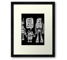 My Data? Robot Kid Framed Print